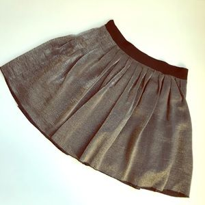 Madewell metallic gold/ silver mink skirt 4